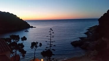 Sunset Bay in Spain