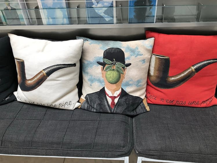Pillows of Magritte Paintings