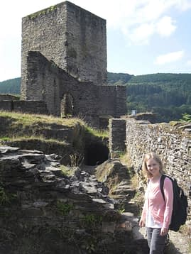 Esch sur Sure castle ruins